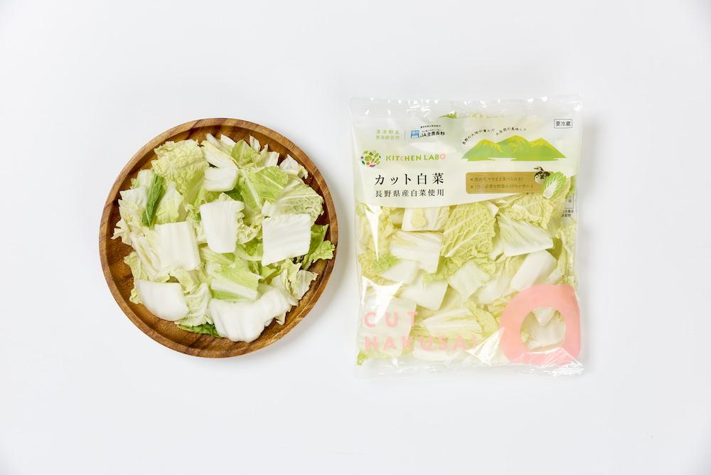 長野県産カット白菜商品写真